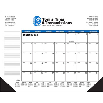15 Sheet Display A Month Desk Pad