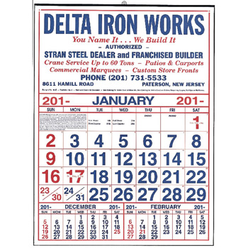 Large Commercial 12 Sheet Calendar