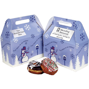 Season's Greetings Stock Donut Box